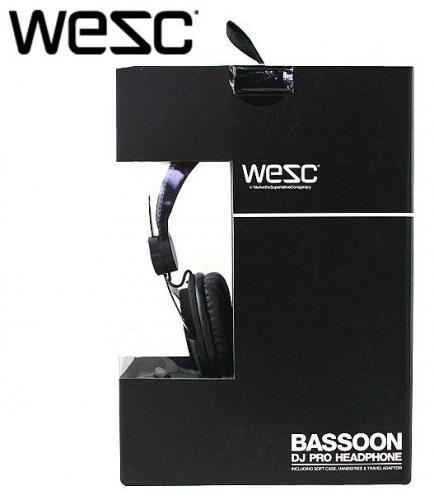Наушники WESC Bassoon Golden Black DJ Pro