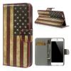 "Кожаный чехол-книжка Print ""Retro USA National Flag"" для Apple iPhone 6/6s (4.7"")"