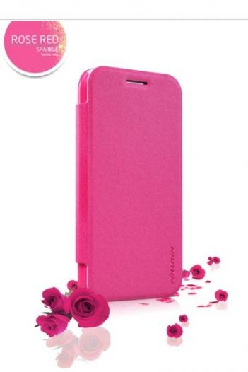 Кожаный чехол (книжка) Nillkin Sparkle Series для Samsung Galaxy J1 Duos SM-J100