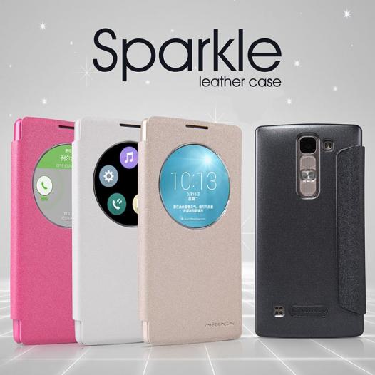 Кожаный чехол (книжка) Nillkin Sparkle Series для LG H422/H440 Spirit