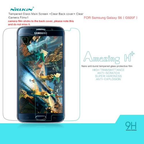 Защитное стекло Nillkin Anti-Explosion Glass H+ для Samsung Galaxy S6 G920F/G920D+пленка на з.панель