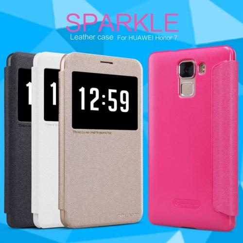 Кожаный чехол (книжка) Nillkin Sparkle Series для Huawei Honor 7