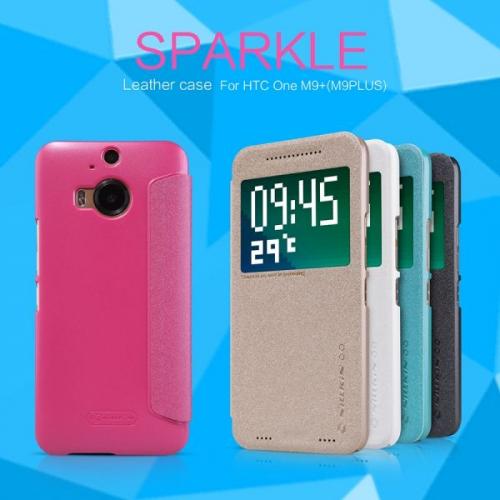 Кожаный чехол (книжка) Nillkin Sparkle Series для HTC One / M9+