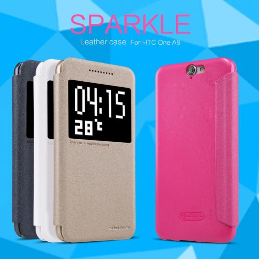 Кожаный чехол (книжка) Nillkin Sparkle Series для HTC One / A9