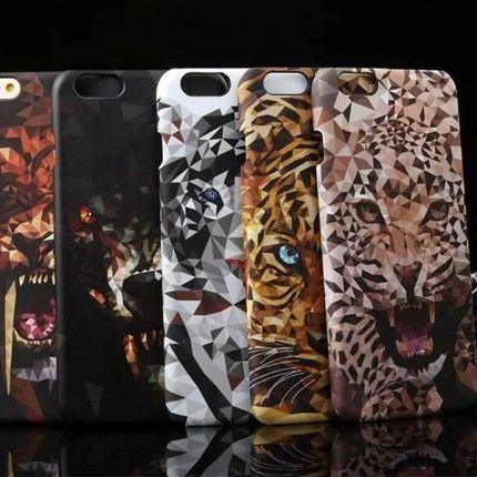 Пластиковая накладка 3D Animals для Apple iPhone 6/6s (4.7
