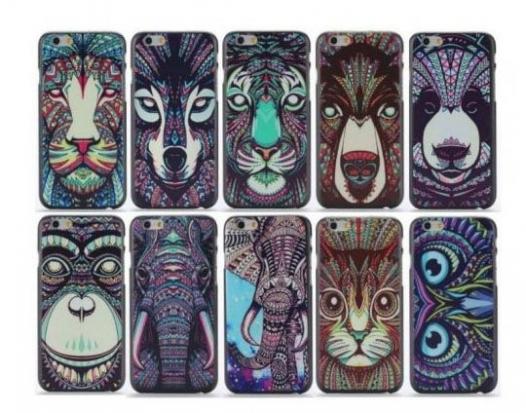 Пластиковая накладка Animal Pattern для Apple iPhone 6/6s (4.7