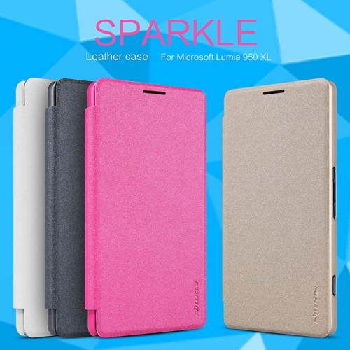 Кожаный чехол (книжка) Nillkin Sparkle Series для Microsoft lumia 950 XL