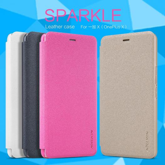 Кожаный чехол (книжка) Nillkin Sparkle Series для OnePlus X