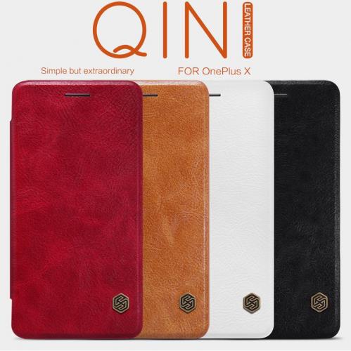 Кожаный чехол (книжка) Nillkin Qin Series для OnePlus X