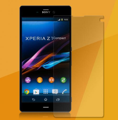 Защитное стекло Ultra Tempered Glass 0.33mm (H+) для Sony Xperia Z1 Compact (картонная упаковка)