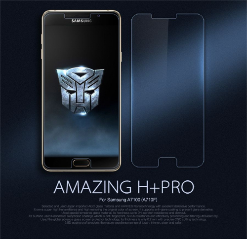 Защитное стекло Nillkin Anti-Explosion Glass (H+ PRO) (зак. края) для Samsung A710F Galaxy A7 (2016)