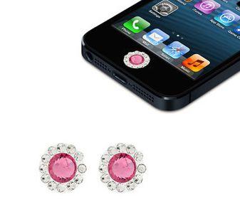 Наклейка на кнопку Rhinestone для Apple (2 штуки)