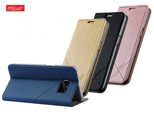 Кожаный чехол-книжка Msvii для Samsung G935F Galaxy S7 Edge с функцией подставки