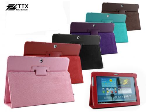 Кожаный чехол-книжка TTX c функцией подставки для Samsung Galaxy Tab 2 10.1 P5100 / P7500