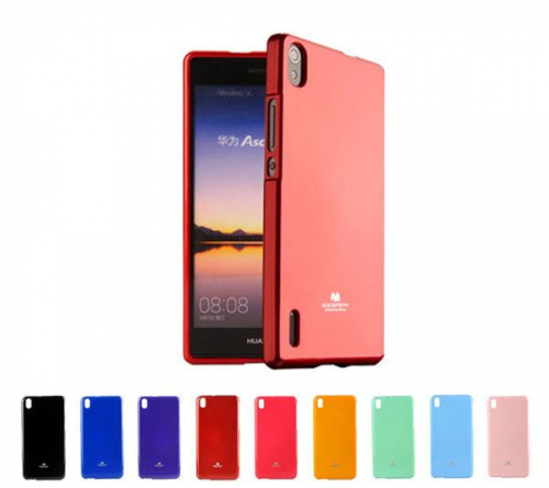 TPU чехол Mercury Jelly Color series для Huawei Ascend P7