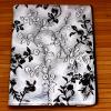 Кожаный чехол-книжка TTX (BLACK Flowers) (360 градусов) для Apple IPAD AIR
