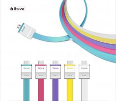 Кабель IHAVE Flat USB to microUSB (90 см)