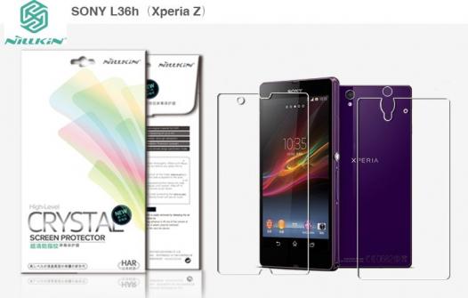 Защитная пленка Nillkin Crystal (на обе стороны) для Sony Xperia Z (L36i)