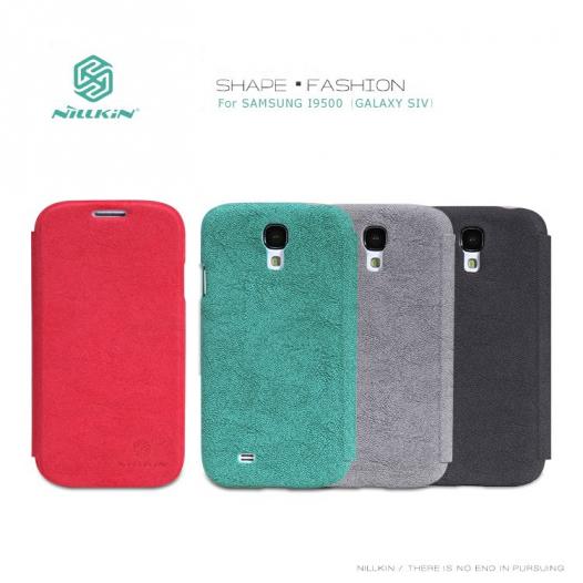 Кожаный чехол (книжка) Nillkin Fashion series для Samsung i9500 Galaxy S4 (+ пленка)