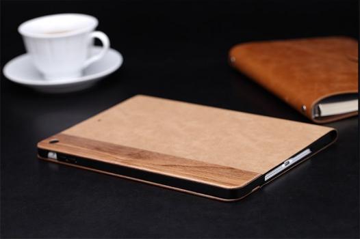 Кожаный чехол (книжка) ROCK Woody Series для Apple IPAD AIR
