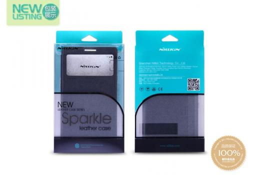 Кожаный чехол (книжка) Nillkin Sparkle Series для Microsoft Lumia 640XL