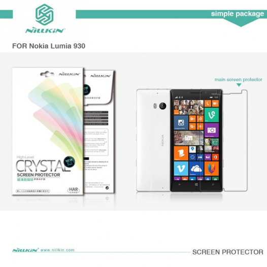 Защитная пленка Nillkin Crystal для Microsoft Lumia 930