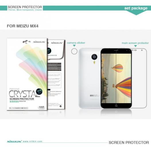 Защитная пленка Nillkin Crystal для Meizu MX4