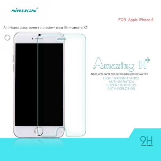 Защитное стекло Nillkin Anti-Explosion Glass (H+)(зак. края) для Apple iPhone 6/6s (4.7
