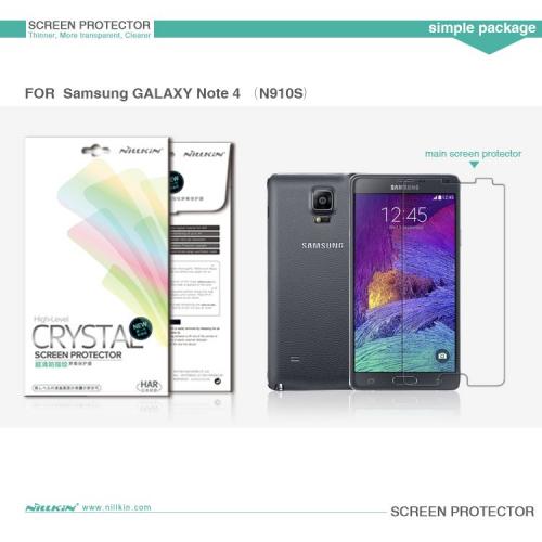 Защитная пленка Nillkin Crystal для Samsung N910H Galaxy Note 4