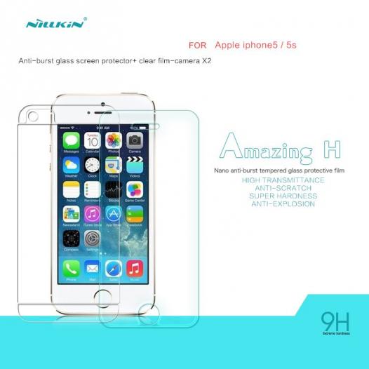 Защитное стекло Nillkin Anti-Explosion Glass (H) для Apple iPhone 5/5S/SE (+пленка на заднюю панель)