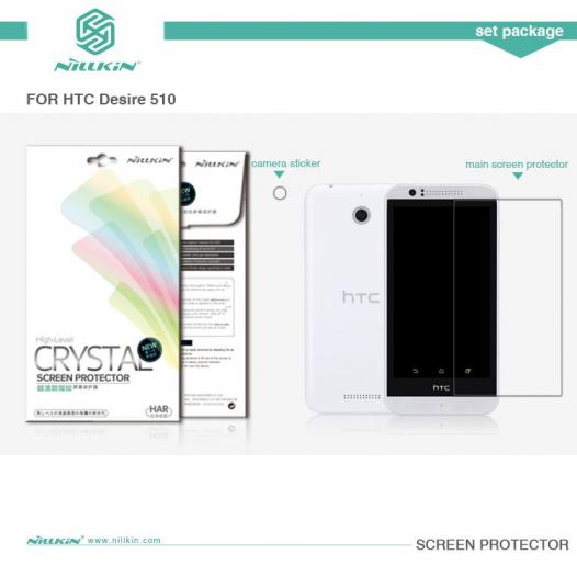 Защитная пленка Nillkin Crystal для HTC Desire 510
