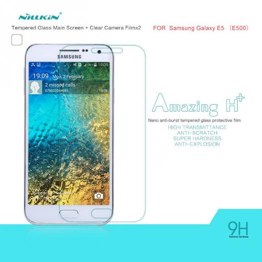 Защитное стекло Nillkin Anti-Explosion Glass (H+) (закругл. края) для Samsung E500H/DS Galaxy E5