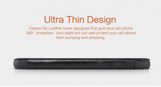 Кожаный чехол (книжка) Nillkin Qin Series для Samsung Galaxy S6 G920F/G920D Duos