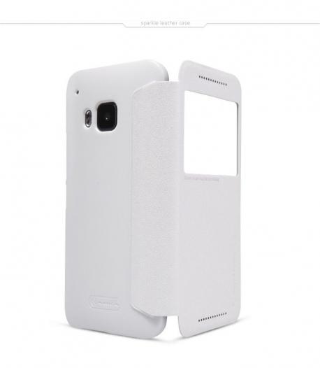 Кожаный чехол (книжка) Nillkin Sparkle Series для HTC One / M9