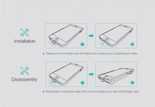 Пластиковая накладка Nillkin Magic с модулем приема от беспроводного ЗУ для Apple iPhone 6/6s (4.7