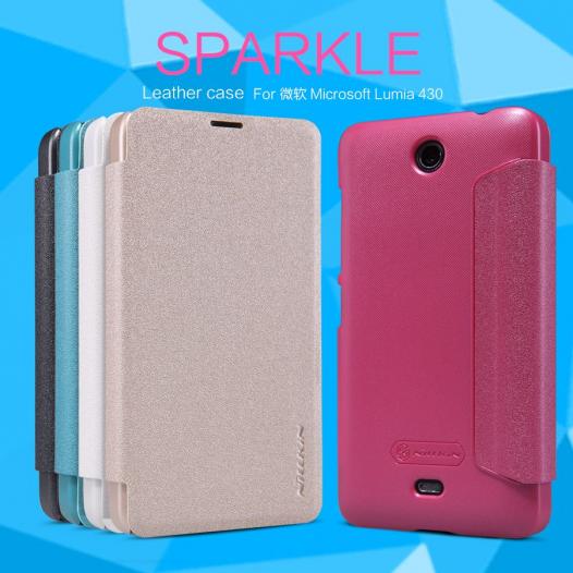 Кожаный чехол (книжка) Nillkin Sparkle Series для Microsoft Lumia 430