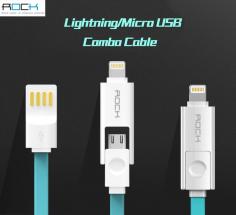 Кабель ROCK Lightning/MicroUSB Combo 100cm (5V/2.1A)