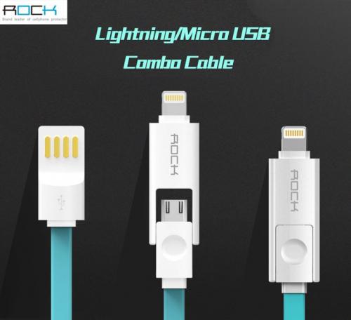 Кабель ROCK Lightning / MicroUSB Combo 100cm (5V/2.1A)