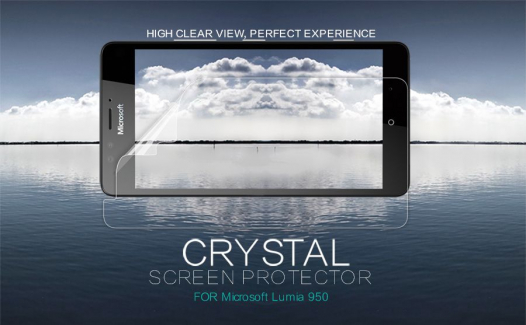 Защитная пленка Nillkin Crystal для Microsoft lumia 950