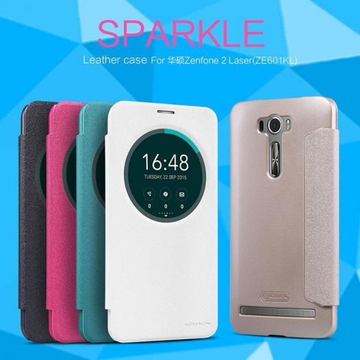 Кожаный чехол (книжка) Nillkin Sparkle Series для Asus Zenfone 2 Laser (ZE601KL)