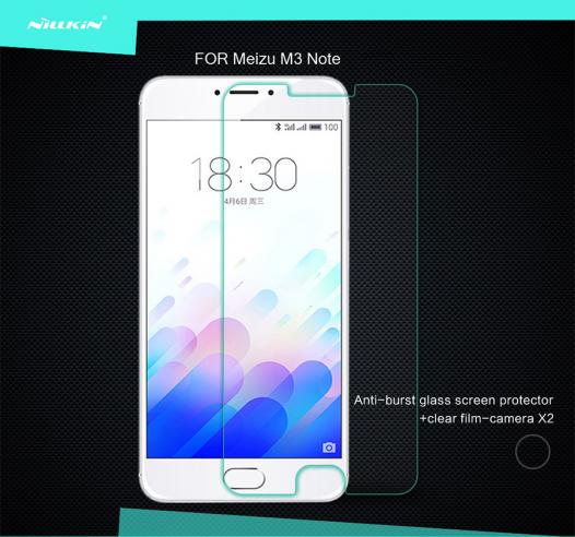 Защитное стекло Nillkin Anti-Explosion Glass Screen (H) для Meizu M3 Note
