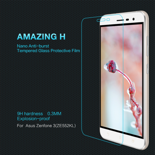 Защитное стекло Nillkin Anti-Explosion Glass Screen (H) для Asus Zenfone 3 (ZE552KL)