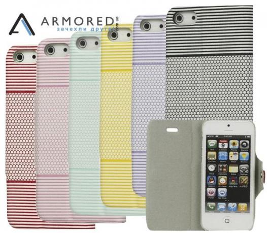 Кожаный чехол-подставка (книжка) на магнитной застежке для Apple iPhone 5/5S