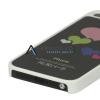 """Пластиковая накладка с алюминиевой вставкой с узором """"Разноцветные сердца"""" для iPhone 5/5S"""