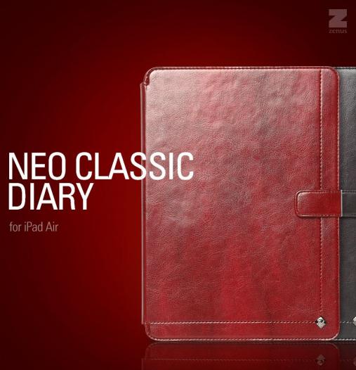 Кожаный чехол Zenus Masstige Neo Classic Diary Series для Apple IPAD AIR