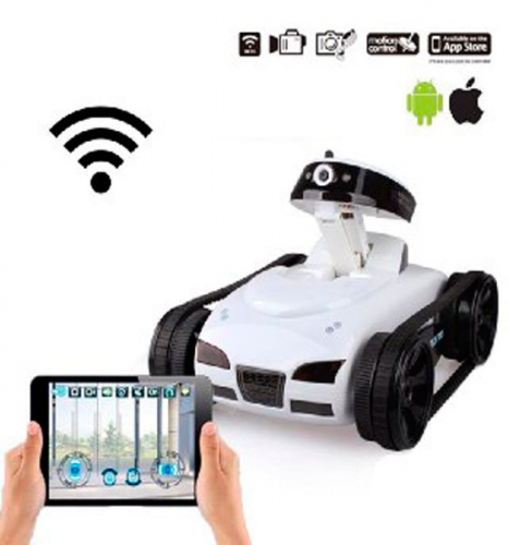Танк шпион с Wi-Fi видеокамерой
