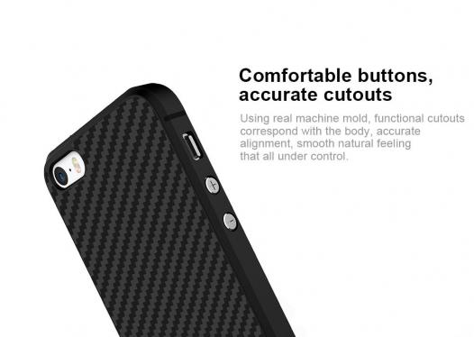 Пластиковая накладка Nillkin Synthetic Fiber series для Apple iPhone 5/5S/SE