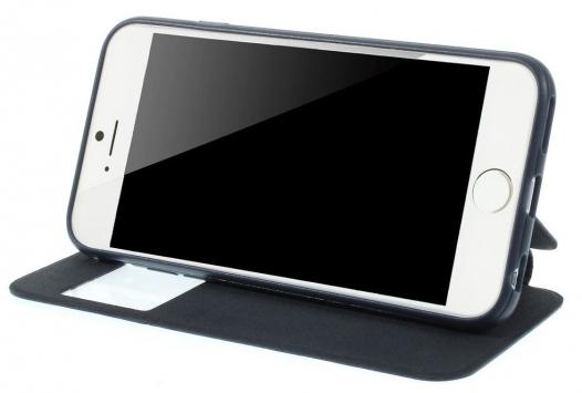 Кожаный чехол-книжка Grid Design для Apple iPhone 6/6s (4.7