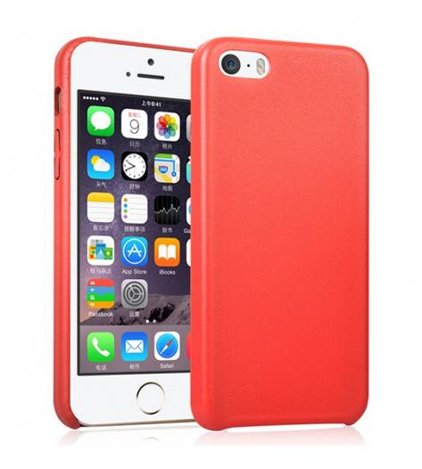 Ультратонкая кожаная PU накладка для Apple iPhone 5/5S/SE