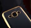 TPU чехол с золотой каймой для Samsung J120F Galaxy J1 (2016)